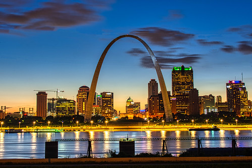 2019 arch gatewayarch stlouisarch mississippiriver river sunset