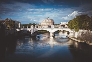Rome, Tiber, st. Angel Castle