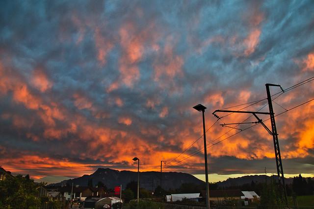 Sunset over Freilassing-Hofham