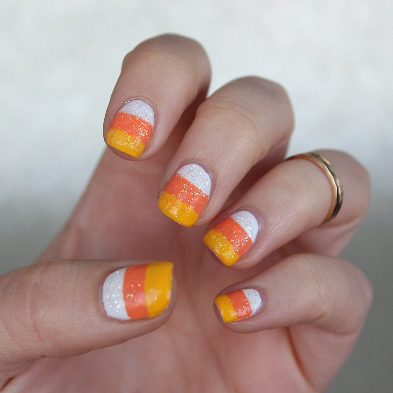 Candy Corn Nails | 6 Halloween Manicures That are SCARY Good | Halloween Nails | Nail Art | Nail Designs | Spooky Nails