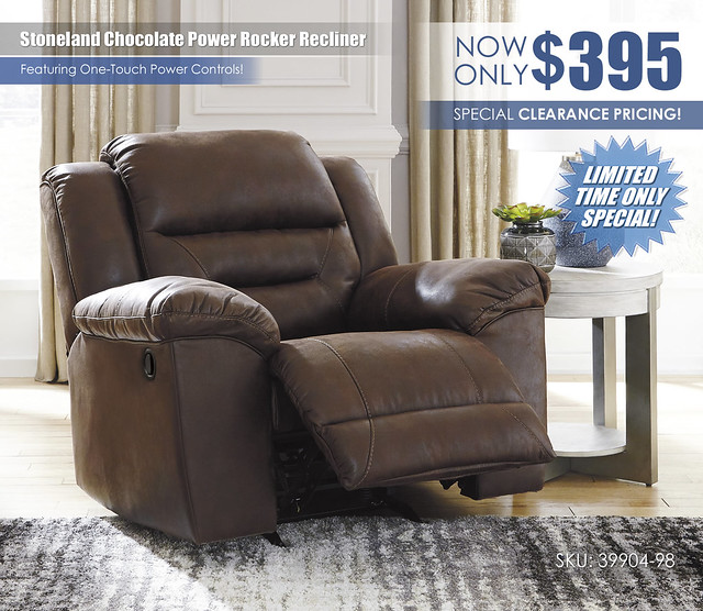 Stoneland Chocolate Power Recliner Limited Special_39904-25-OPEN