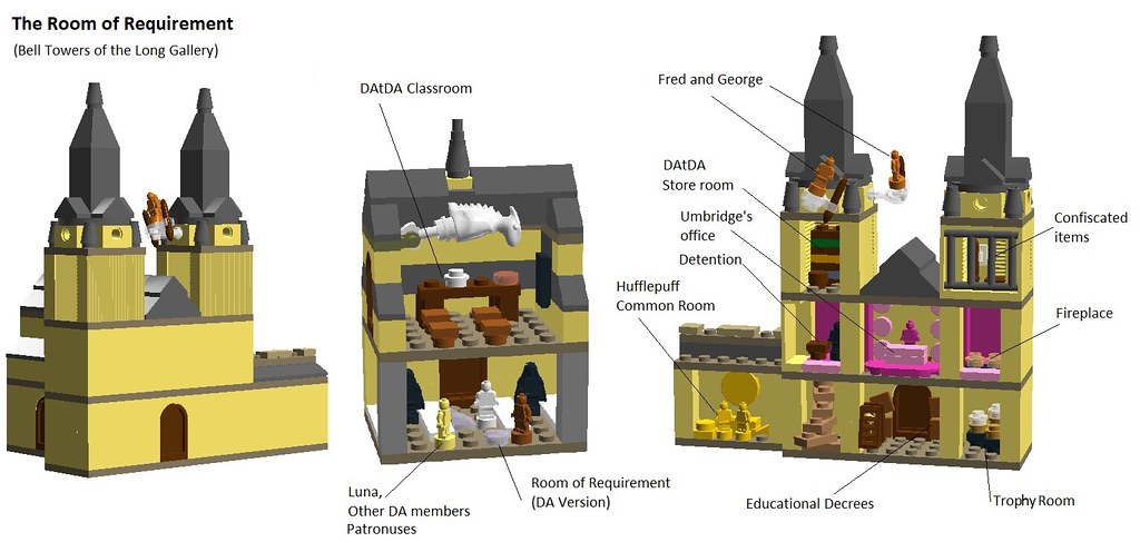 LEGO Hogwarts The Room Of Requirement (Sketch)