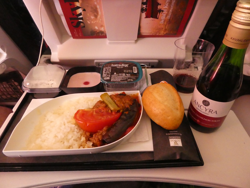 Lunch on Turkish Airlines flight