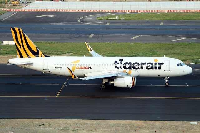 B-50018  -  Airbus A320-232 (SL)  -  Tigerair Taiwan  -  TPE/RCTP 11/10/19