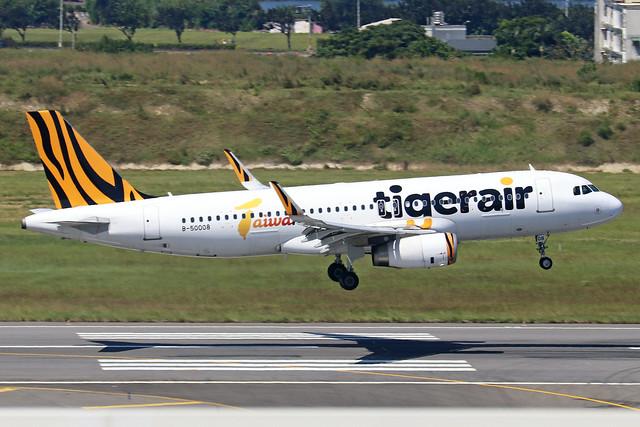 B-50008  -  Airbus A320-232 (SL)  -  Tigerair Taiwan  -  TPE/RCTP 11/10/19