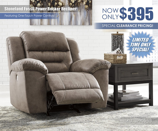 Stoneland Fossil Power Recliner Limited Special_39905-98-OPEN