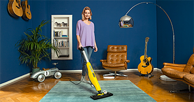 The hot steam from the new Karcher SC 3 cuts through dirt, grease and grime without the usage of any chemicals. Only 30 seconds needed to heat up the steam mop for quick usage.