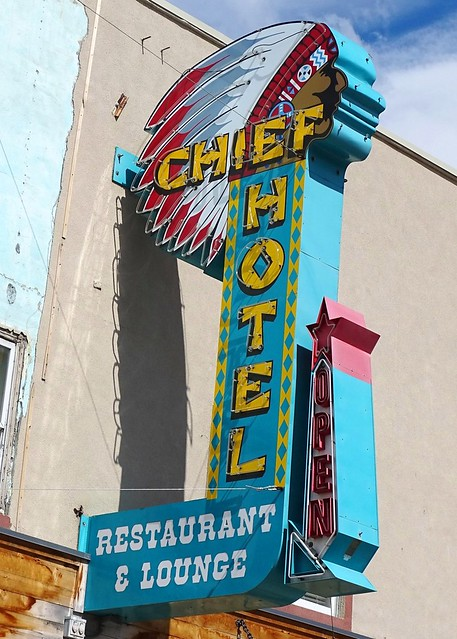 ID, Cascade-ID 55 Chief Hotel Neon Sign