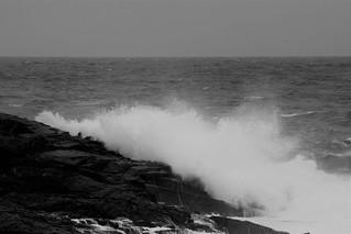 Waves striking at Sennen