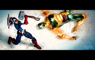 Marvel Legends Captain America and Marvel Legends Hydra Supreme