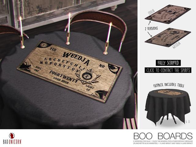 NEW!  'Ouija' & 'Weedja' Boo Boards @ Kustom9
