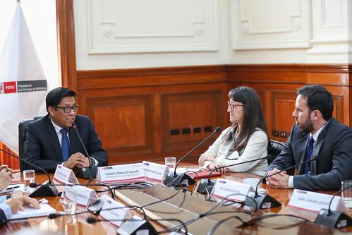 Presidente del Consejo de Ministros, Vicente Zeballos, encabeza la sesión de instalación de la Comisión Consultiva para el Desarrollo Minero Sostenible