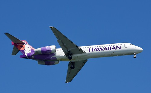 N485HA, Hawaiian Airlines Boeing 717-22A, Approach to  Hilo Ha  (ITO)