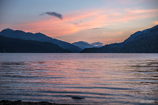 North of Inverbeg, a panorama of Ben Vorlich and Loch Lomond.