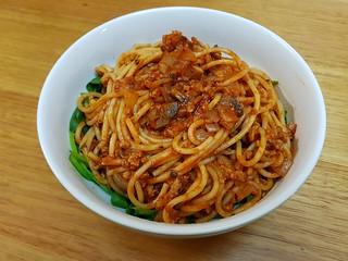 Spaghetti with Meaty Mushroom Sauce