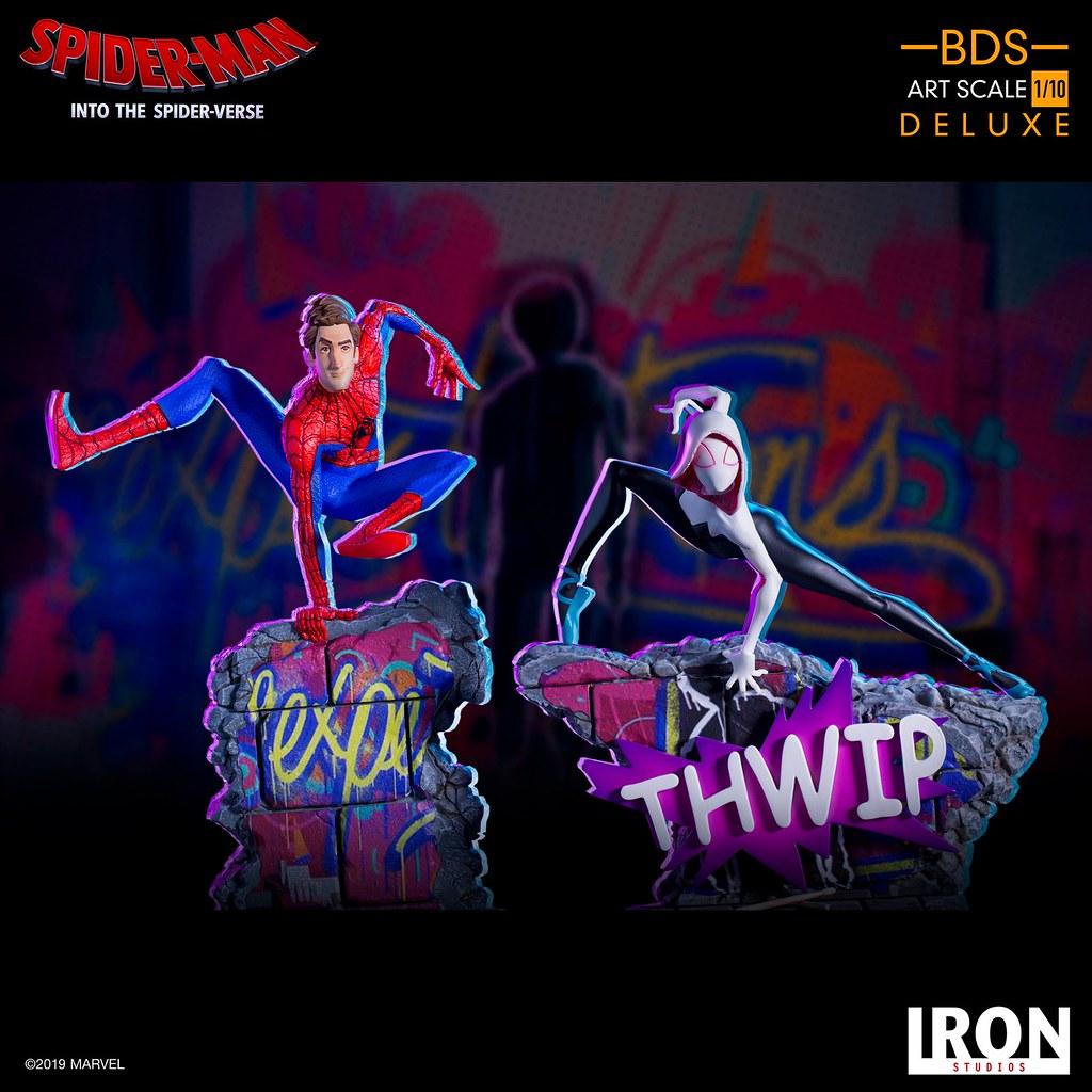 超軟Q的筋骨、超輕盈的姿態! Iron Studios Battle Diorama 系列《蜘蛛人:新宇宙》女蜘蛛人·關 Spider-Gwen 1/10 比例決鬥場景雕像