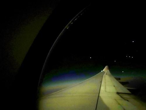 The constellation Orion seen from my plane window, Taken with Huawei phone.