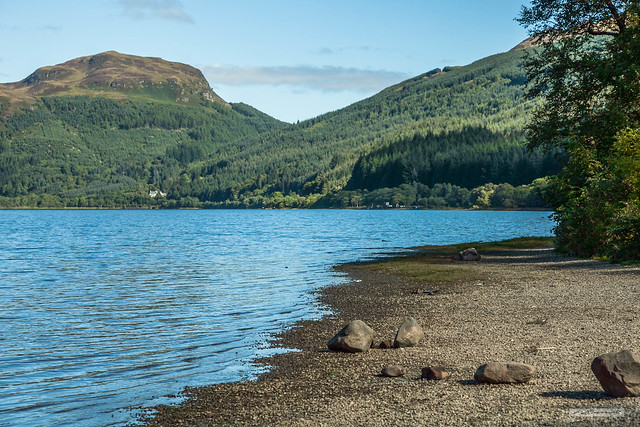 Looking north across Loch Lubnaig, Loch Lomond and Trossachs National Park.