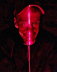 Self Portrait in Laser Light at the 'Geometry of Light' for the 2019 Chicago Architecture Biennial at the Farnsworth House.