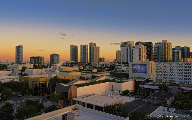 Falling afternoon over Buena Vista, Florida.