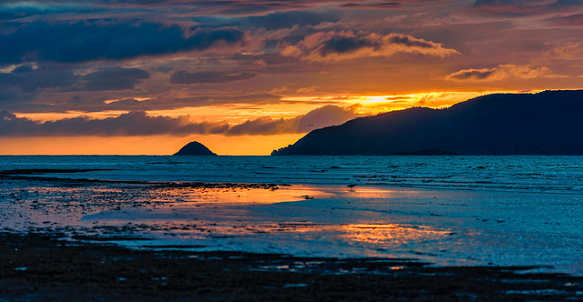 Waikanae Beach Sunset Pano