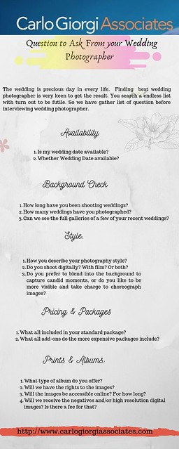 Question to be Ask to choose Best wedding Photographer