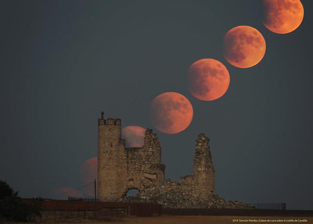 Eclipse de Luna sobre Caudilla Julio 2019