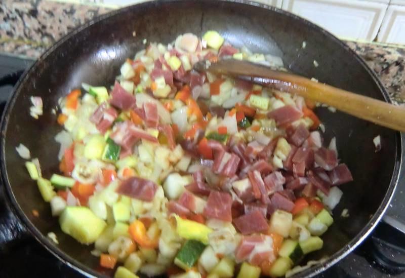 quiche de verduras paso 3