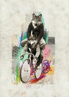 """Loups sur Roues"" - Leo & Pipo, by José Ignacio Fernández (for.better.days)"