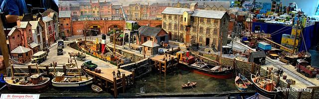 part of train diorama at Johnstone model rail show