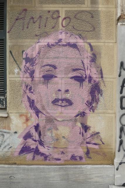 Madonna stencil, Athens