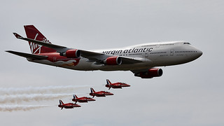 Virgin 747 & Red arrows