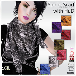 :.C!L.: Wicked Spider Loose Scarf with Colour Palette HuD Poster