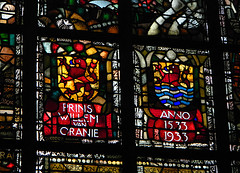 Stained-glass windows in the New Church in Delft, Holland