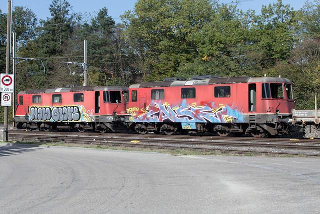 SBB Re 4/4 11166 + 420 231 Kaiseraugst