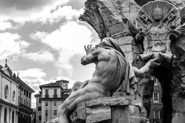 Italy - Rome - Piazza Navona - Fontana dei Quattro Fiumi