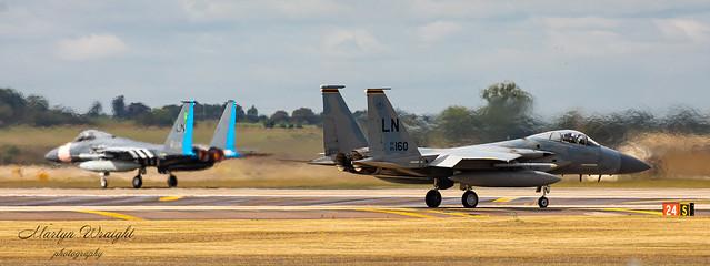 F15C Eagle's depart from RAF Lakenheath