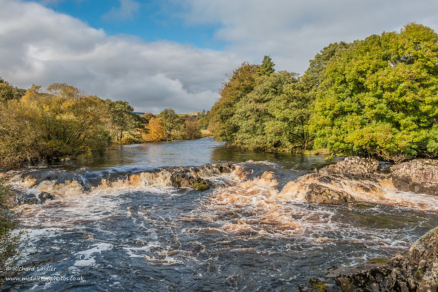 Cascade on the River Tees between Low Force  and High Force Oct 2019