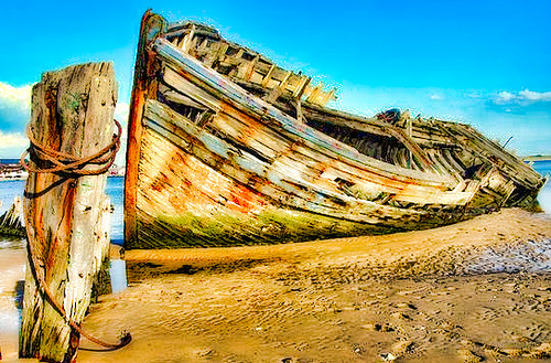 Ancien bateau de pêche.