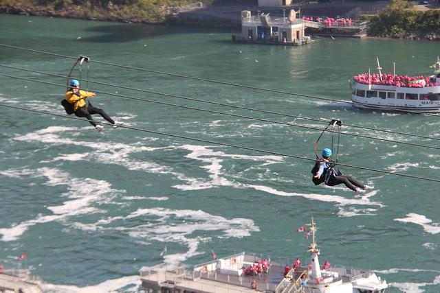 Ziplining At Niagara Falls
