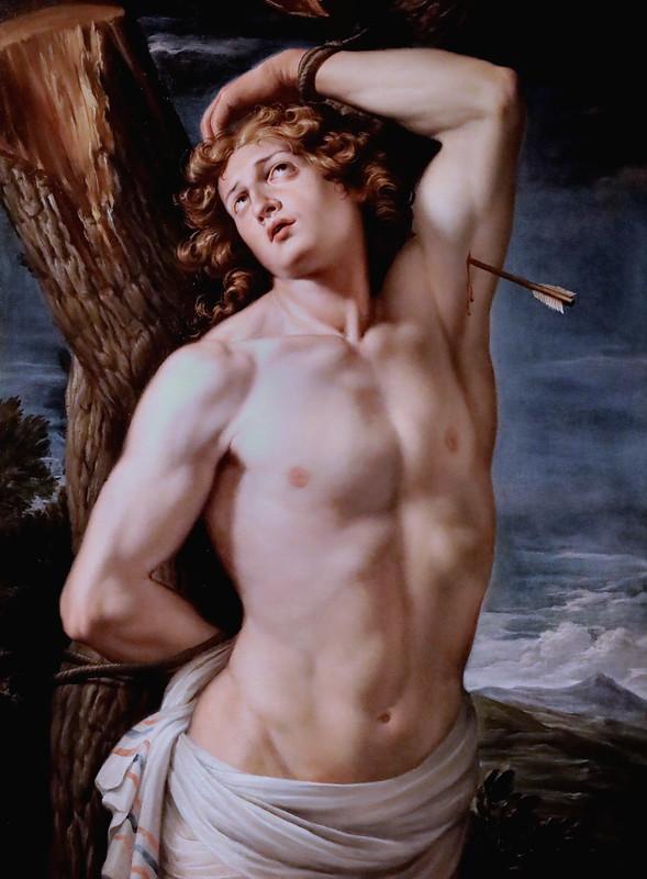 IMG_1588 Antonio Palomino 1655-1726  Madrid  Saint Sébastien San Sebastian  Cherbourg Musée des Beaux Arts Thomas Henry