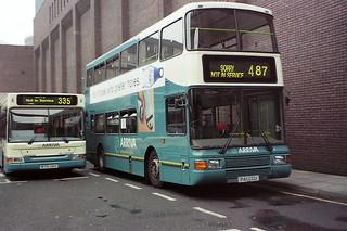 7411 Arriva Northumbria P411CCU Volvo Olympian OLY-50 Northern Counties Palatine II. Eldon Square Newcastle Aug00