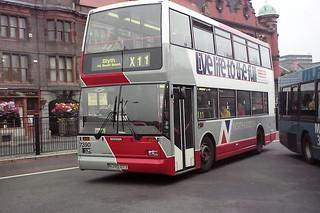 7390 Arriva Northumbria N390OTY Scania N113DRB East Lancs Cityzen. Haymarket Bus Station Newcastle Aug00