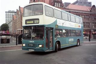 7305 Arriva Northumbria F305JTY Leyland Olympian ONCL10.2RZ Alexander RH. Haymarket Bus Station Newcastle Aug00