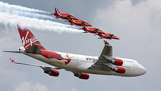 Virgin 747 & Red arrows