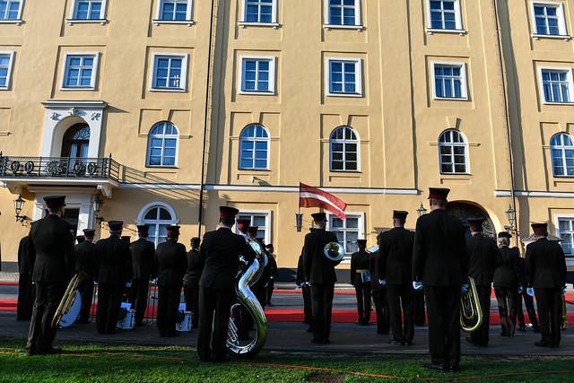 16.10.2019. Ukrainas prezidenta Volodimira Zelenska (H. E. Mr Volodymyr Zelenskyy) un kundzes Olenas Zelenskas (Mrs Olena Zelenska) oficiālā vizīte Latvijā