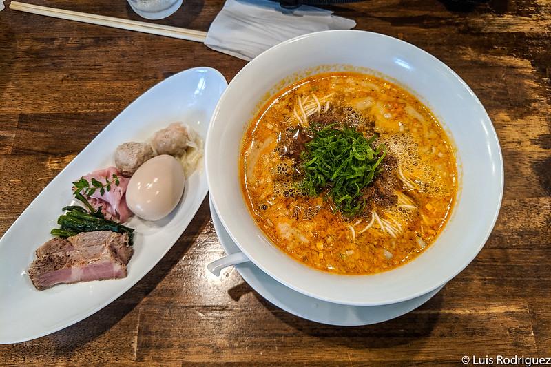 Tan-tan men en Nakiryu (Tokio) con estrella Michelin