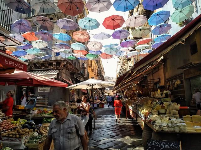 Mercado de pescado en Catania