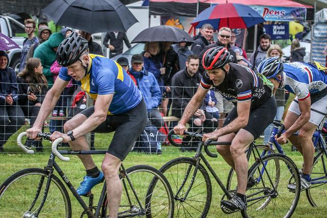Umbrellas & Cyclists