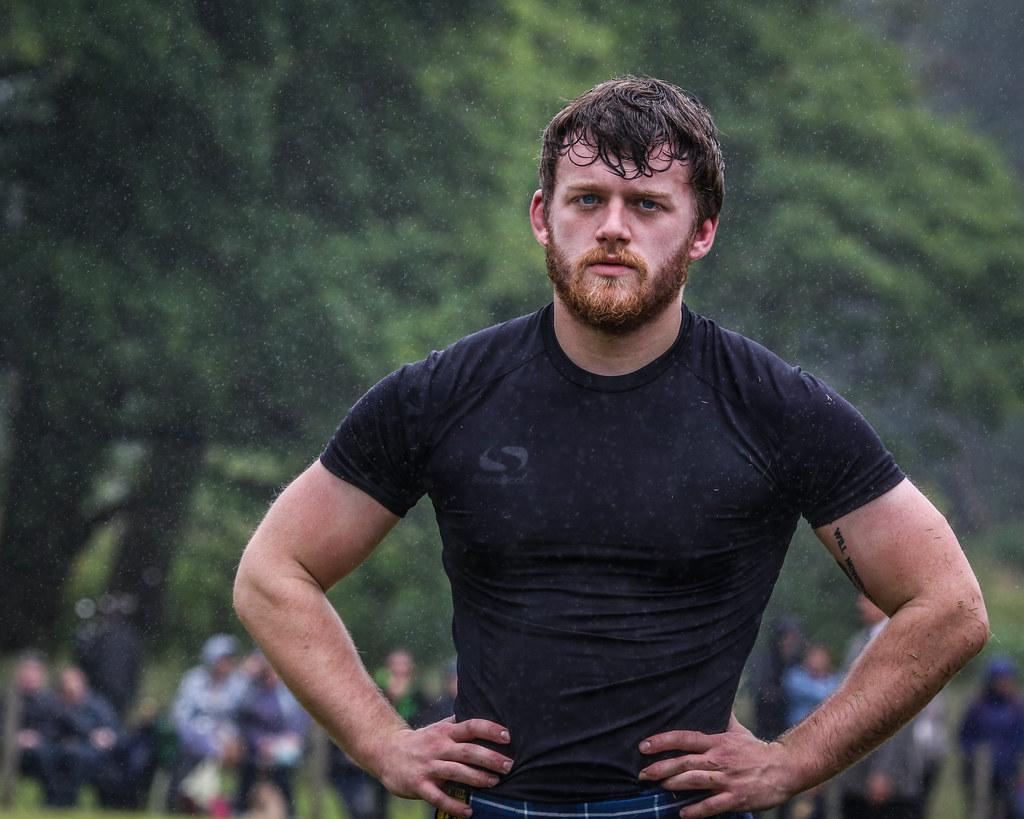 Wrestler in the Rain